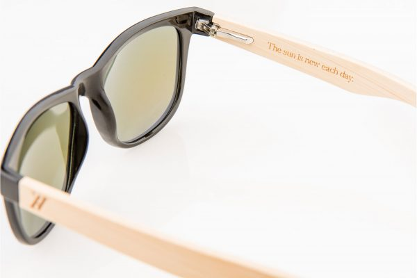 Amevie bamboo sunglasses - Laguna Blue